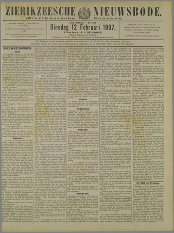 Zierikzeesche Nieuwsbode 1907-02-12