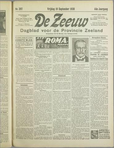 De Zeeuw. Christelijk-historisch nieuwsblad voor Zeeland 1930-09-19