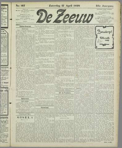 De Zeeuw. Christelijk-historisch nieuwsblad voor Zeeland 1920-04-17
