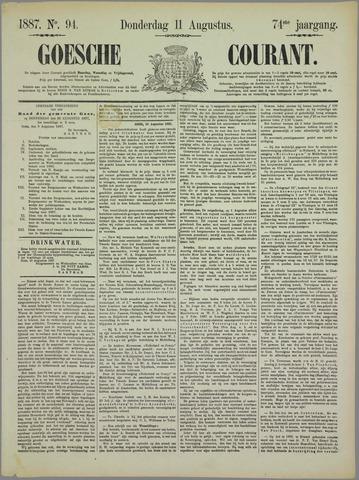 Goessche Courant 1887-08-11