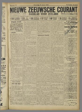 Nieuwe Zeeuwsche Courant 1922-01-18