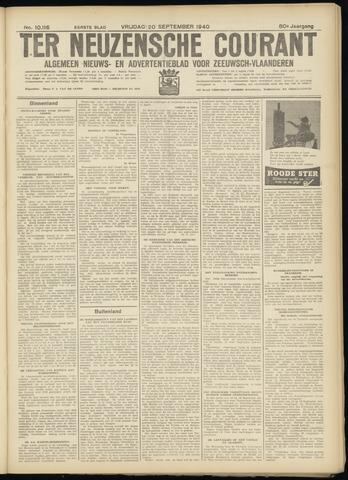 Ter Neuzensche Courant. Algemeen Nieuws- en Advertentieblad voor Zeeuwsch-Vlaanderen / Neuzensche Courant ... (idem) / (Algemeen) nieuws en advertentieblad voor Zeeuwsch-Vlaanderen 1940-09-20