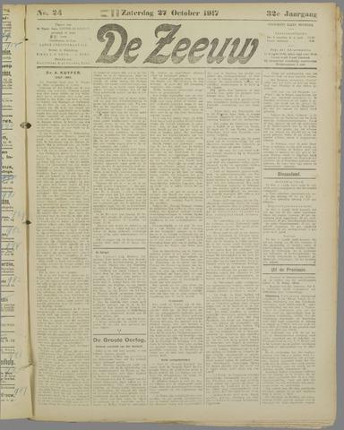 De Zeeuw. Christelijk-historisch nieuwsblad voor Zeeland 1917-10-27