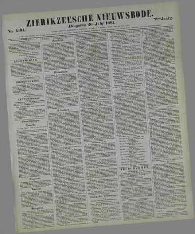 Zierikzeesche Nieuwsbode 1881-07-26