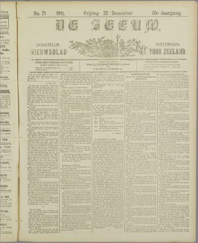 De Zeeuw. Christelijk-historisch nieuwsblad voor Zeeland 1911-12-22