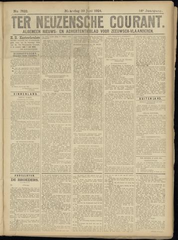 Ter Neuzensche Courant. Algemeen Nieuws- en Advertentieblad voor Zeeuwsch-Vlaanderen / Neuzensche Courant ... (idem) / (Algemeen) nieuws en advertentieblad voor Zeeuwsch-Vlaanderen 1924-06-23