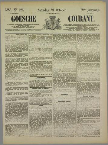 Goessche Courant 1885-10-24