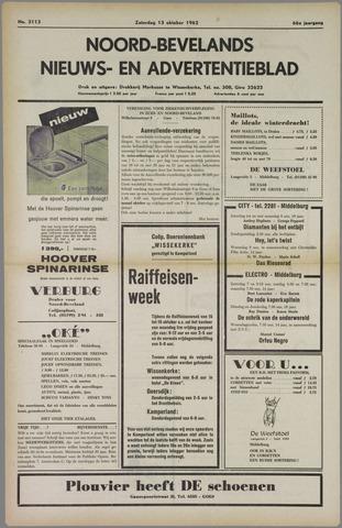 Noord-Bevelands Nieuws- en advertentieblad 1962-10-13