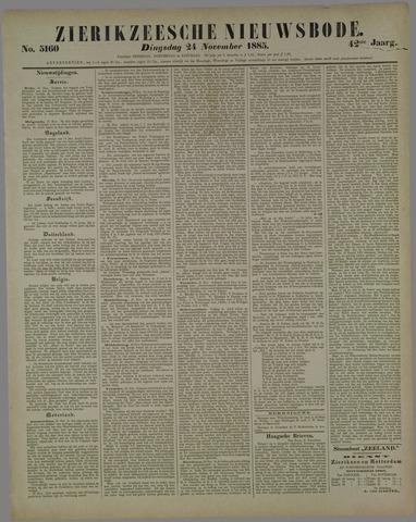 Zierikzeesche Nieuwsbode 1885-11-24