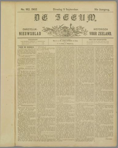 De Zeeuw. Christelijk-historisch nieuwsblad voor Zeeland 1902-09-09