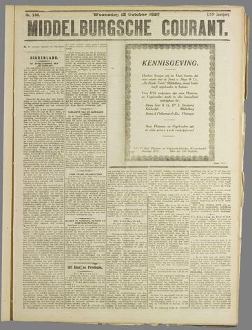 Middelburgsche Courant 1927-10-12