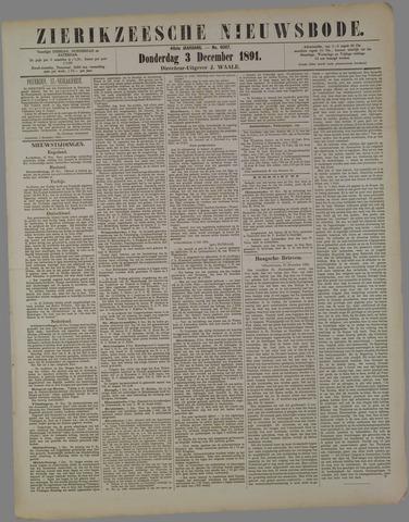 Zierikzeesche Nieuwsbode 1891-12-03