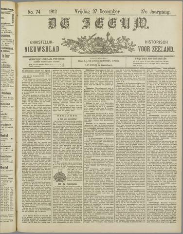 De Zeeuw. Christelijk-historisch nieuwsblad voor Zeeland 1912-12-27
