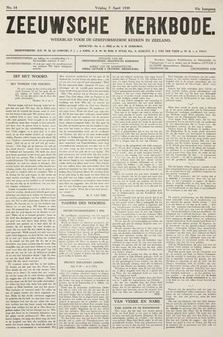 Zeeuwsche kerkbode, weekblad gewijd aan de belangen der gereformeerde kerken/ Zeeuwsch kerkblad 1939-04-07