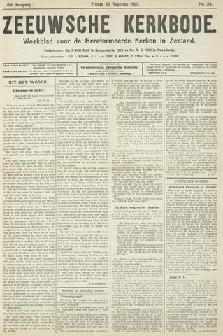 Zeeuwsche kerkbode, weekblad gewijd aan de belangen der gereformeerde kerken/ Zeeuwsch kerkblad 1927-08-26