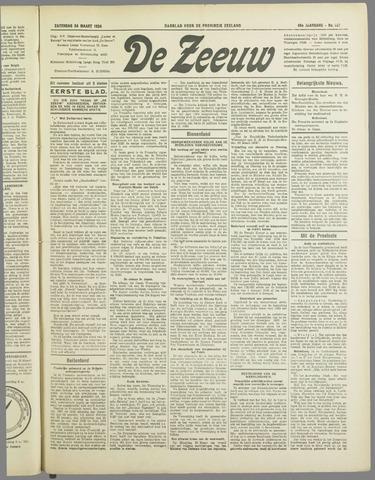 De Zeeuw. Christelijk-historisch nieuwsblad voor Zeeland 1934-03-24