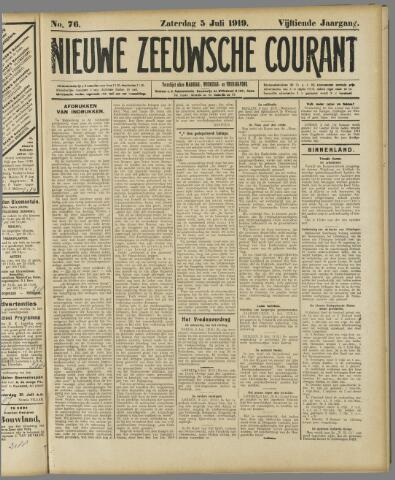 Nieuwe Zeeuwsche Courant 1919-07-05