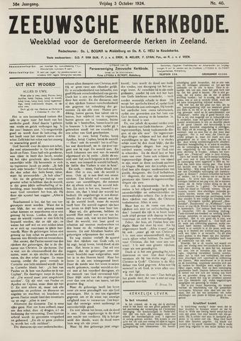 Zeeuwsche kerkbode, weekblad gewijd aan de belangen der gereformeerde kerken/ Zeeuwsch kerkblad 1924-10-03