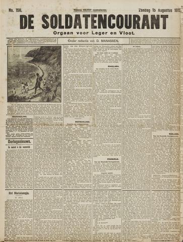 De Soldatencourant. Orgaan voor Leger en Vloot 1915-08-15
