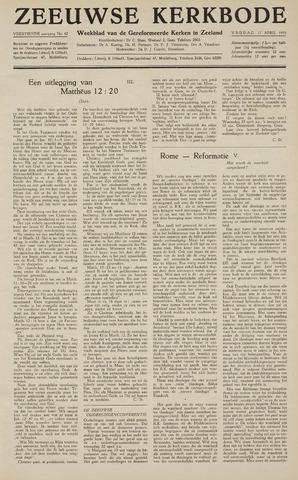 Zeeuwsche kerkbode, weekblad gewijd aan de belangen der gereformeerde kerken/ Zeeuwsch kerkblad 1959-04-17