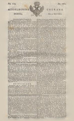 Middelburgsche Courant 1762-09-09