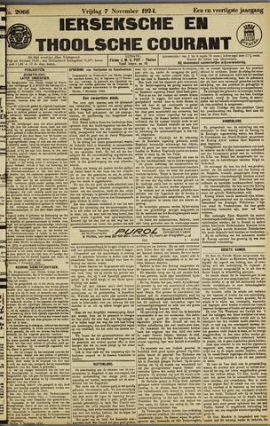 Ierseksche en Thoolsche Courant 1924-11-07