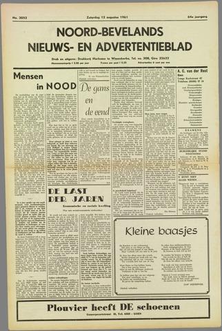 Noord-Bevelands Nieuws- en advertentieblad 1961-08-12