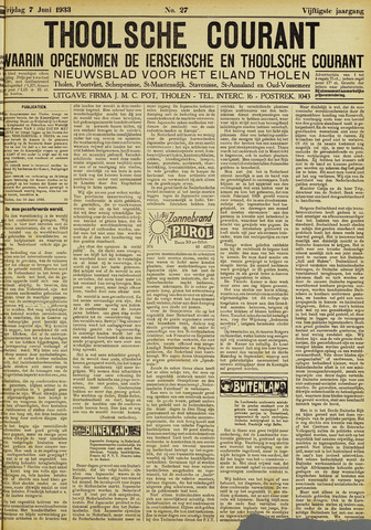 Ierseksche en Thoolsche Courant 1933-07-07