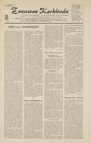 Zeeuwsche kerkbode, weekblad gewijd aan de belangen der gereformeerde kerken/ Zeeuwsch kerkblad 1964-01-24