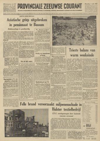 Provinciale Zeeuwse Courant 1957-07-01