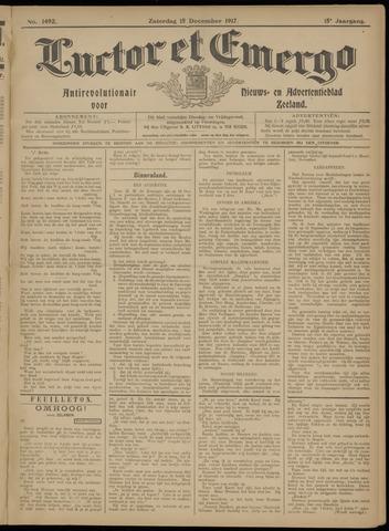 Luctor et Emergo. Antirevolutionair nieuws- en advertentieblad voor Zeeland / Zeeuwsch-Vlaanderen. Orgaan ter verspreiding van de christelijke beginselen in Zeeuwsch-Vlaanderen 1917-12-15