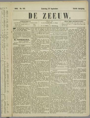 De Zeeuw. Christelijk-historisch nieuwsblad voor Zeeland 1890-09-20