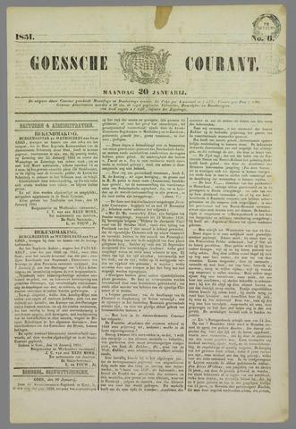 Goessche Courant 1851-01-20