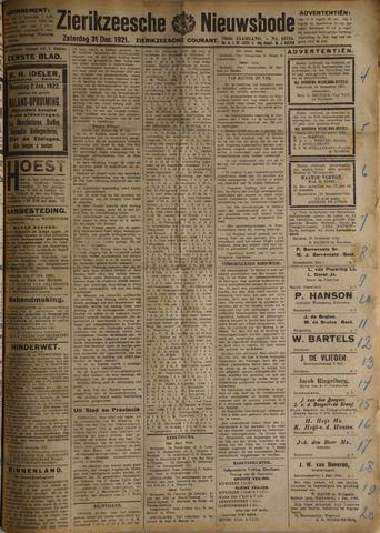 Zierikzeesche Nieuwsbode 1921-12-31