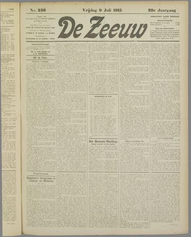 De Zeeuw. Christelijk-historisch nieuwsblad voor Zeeland 1915-07-09