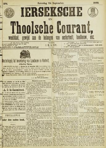 Ierseksche en Thoolsche Courant 1892-09-24