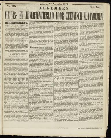 Ter Neuzensche Courant. Algemeen Nieuws- en Advertentieblad voor Zeeuwsch-Vlaanderen / Neuzensche Courant ... (idem) / (Algemeen) nieuws en advertentieblad voor Zeeuwsch-Vlaanderen 1875-11-27