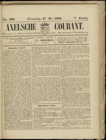 Axelsche Courant 1891-05-27