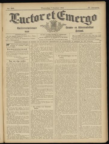 Luctor et Emergo. Antirevolutionair nieuws- en advertentieblad voor Zeeland / Zeeuwsch-Vlaanderen. Orgaan ter verspreiding van de christelijke beginselen in Zeeuwsch-Vlaanderen 1914-10-07
