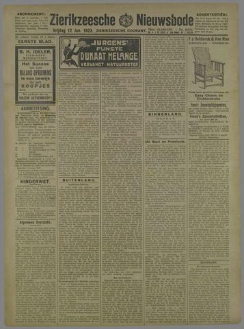 Zierikzeesche Nieuwsbode 1923-01-12