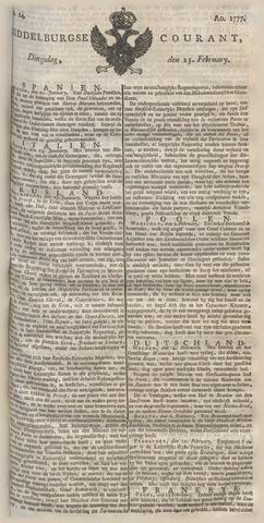 Middelburgsche Courant 1777-02-25