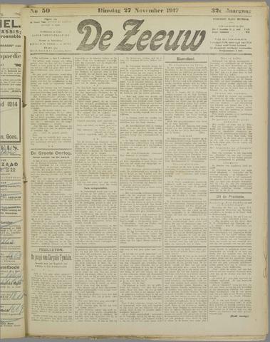 De Zeeuw. Christelijk-historisch nieuwsblad voor Zeeland 1917-11-27