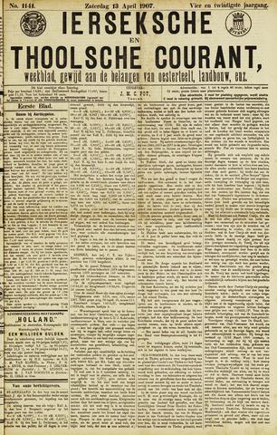 Ierseksche en Thoolsche Courant 1907-04-13