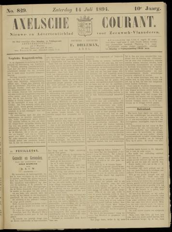 Axelsche Courant 1894-07-14