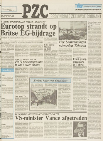 Provinciale Zeeuwse Courant 1980-04-29
