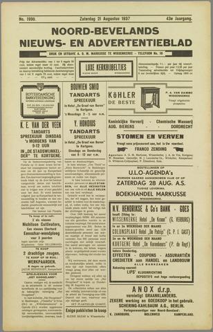 Noord-Bevelands Nieuws- en advertentieblad 1937-08-21