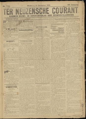 Ter Neuzensche Courant. Algemeen Nieuws- en Advertentieblad voor Zeeuwsch-Vlaanderen / Neuzensche Courant ... (idem) / (Algemeen) nieuws en advertentieblad voor Zeeuwsch-Vlaanderen 1924-12-29