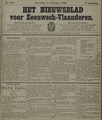 Nieuwsblad voor Zeeuwsch-Vlaanderen 1899-02-11