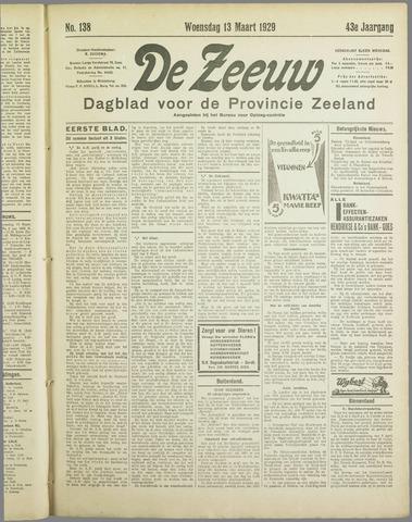 De Zeeuw. Christelijk-historisch nieuwsblad voor Zeeland 1929-03-13
