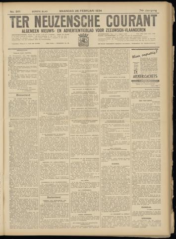 Ter Neuzensche Courant. Algemeen Nieuws- en Advertentieblad voor Zeeuwsch-Vlaanderen / Neuzensche Courant ... (idem) / (Algemeen) nieuws en advertentieblad voor Zeeuwsch-Vlaanderen 1934-02-26